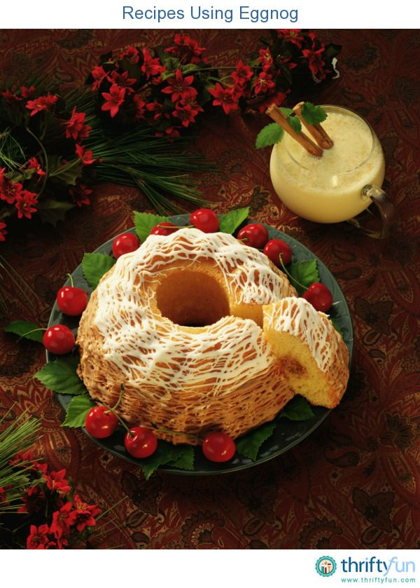 This page contains recipes using eggnog. There are rich, desserts and refreshments that can be made using this beverage.