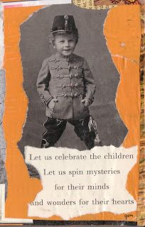 """""""celebrate the children"""" paper collage, by gregory a. milinovich, from the unlikely orange: collage"""