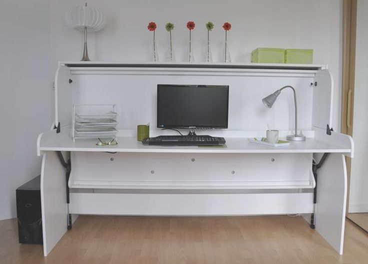 Combine lit bureau lits escamotables pinterest bureaus - Bureau lit escamotable ...