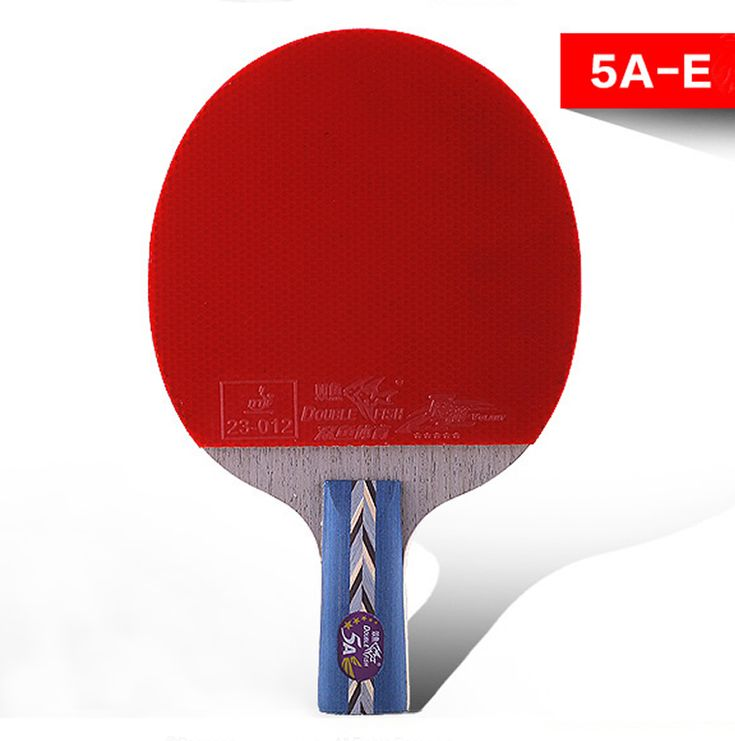 sporting goods genuine double fish five-star Straight Grip table tennis racket 5A-E double face reverse glue ping-pong bats