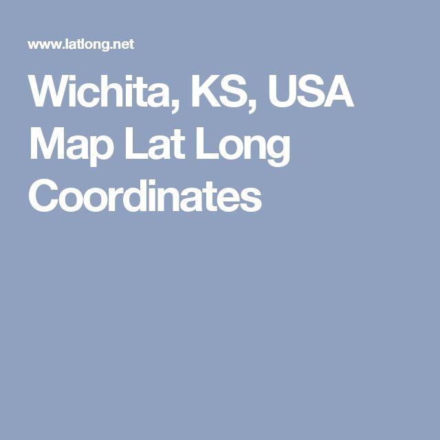 Wichita Ks Usa Map Lat Long Coordinates