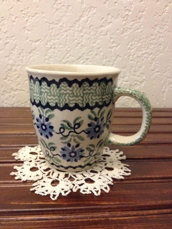Polish Pottery Coffee Mug by MimisMiniMarketplace on Etsy, $9.00