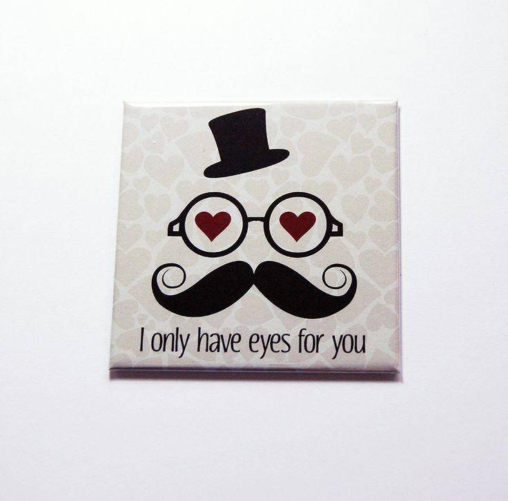 I only have eyes for you Magnet, Fridge magnet, Gift for her, Gift for girlfriend, Valentine Gift, Love, Funny magnet, purple (7241) by KellysMagnets on Etsy