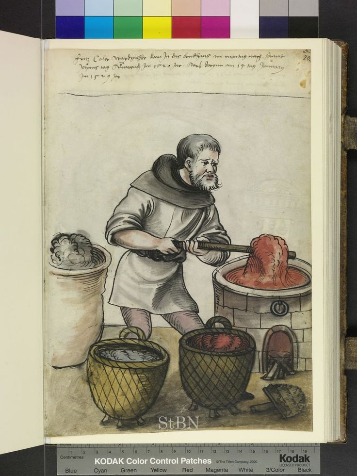 Fritz Coler, 1529, Dyer2792, Recto Depicting, 279 2, Folio 20, Bowls Red, Red And Blue, Bricks Fireplaces, Blue Wool, 20 Recto