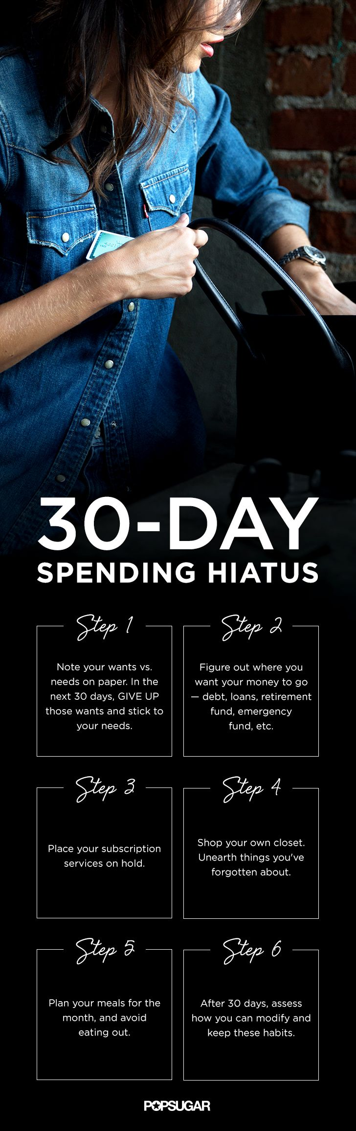 Take Charge of Your Bank Account With the 30-Day Spending Hiatus. Great tips if you're trying to cut back on how much you spend!