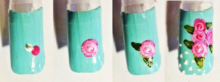 www.berylli.fi #nailart #nail #art #kauneus #kynsikoristelu #rose #paint #easy #kynnet #kynsitaide #romanttinen #romantic #simple