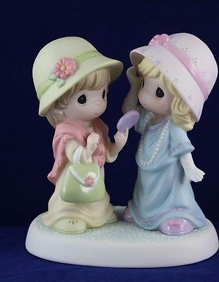 Precious Moments - Two Friends Figurine - Playing Dress-UP - 103032