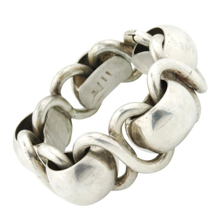 Mid Century Sterling Bracelet Modernist Mexican
