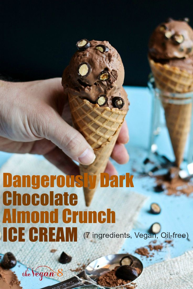 Dairy-free and oil-free ice cream! Rich, creamy and chocolatey!