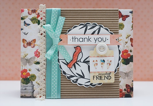 Fiskars Fuse Creativity System thank you card project by designer Kendra McCracken.