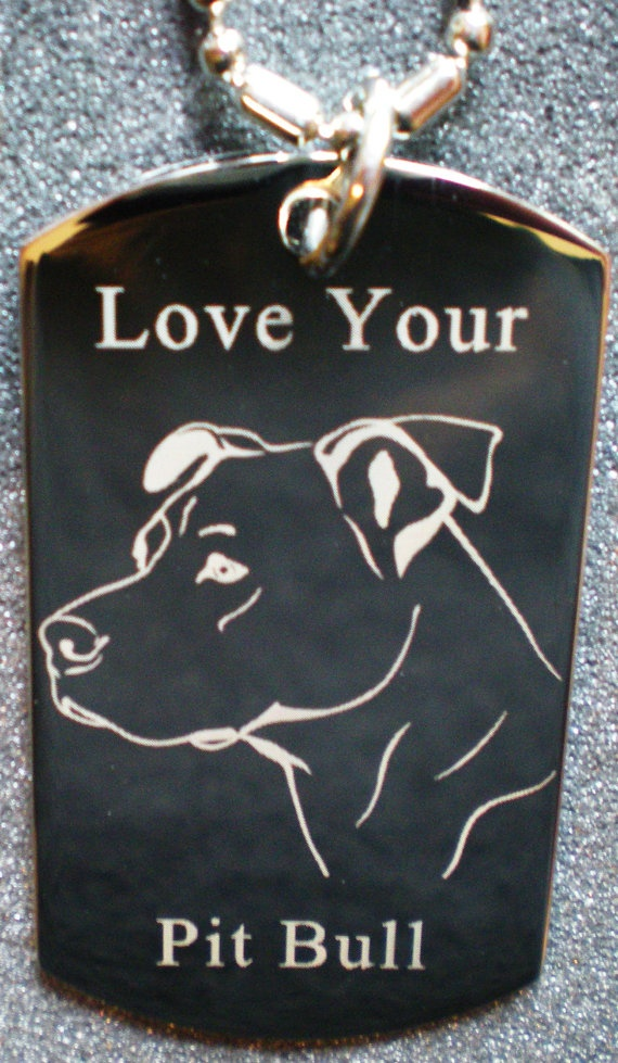 Love Your Pit Bull Dog Tag Necklace