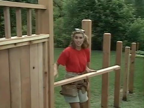 How To Build A Wood Privacy Fence On Slope Wood Privacy Fence Wood Fence Building A Fence