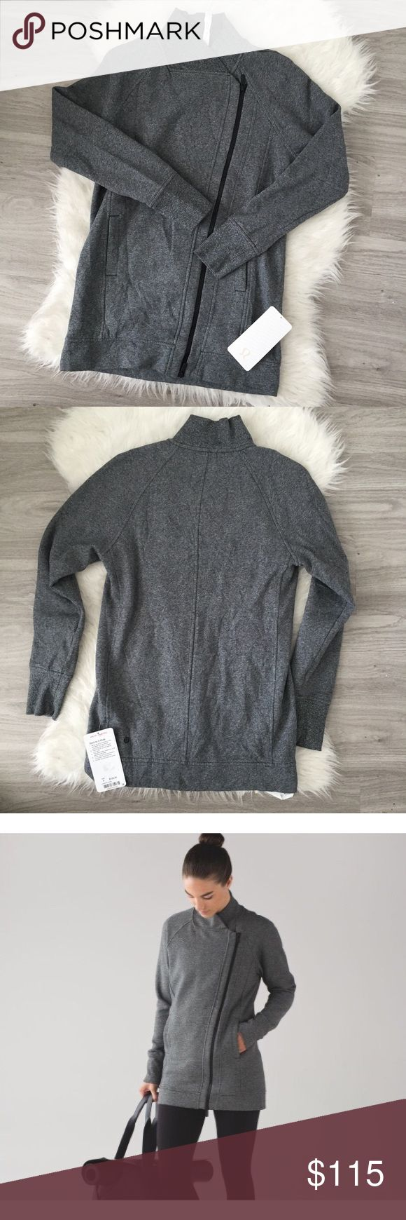 NWT Lululemon Back To It Wrap Jacket size 4 NWT! No flaws, bought online and it doesn't fit! (I'm a 6/8 I found out lol) originally $128. Reasonable offers will be accepted! Bundle & I'll send you an offer! lululemon athletica Jackets & Coats