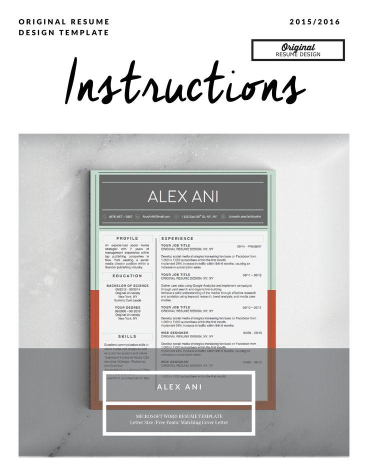 17 best images about alex ani resume template on pinterest