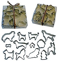 Great idea for baking dog treats! And cute for people cookies too.   Dog Breeds Cookie Cutter Set   Golda's Kitchen