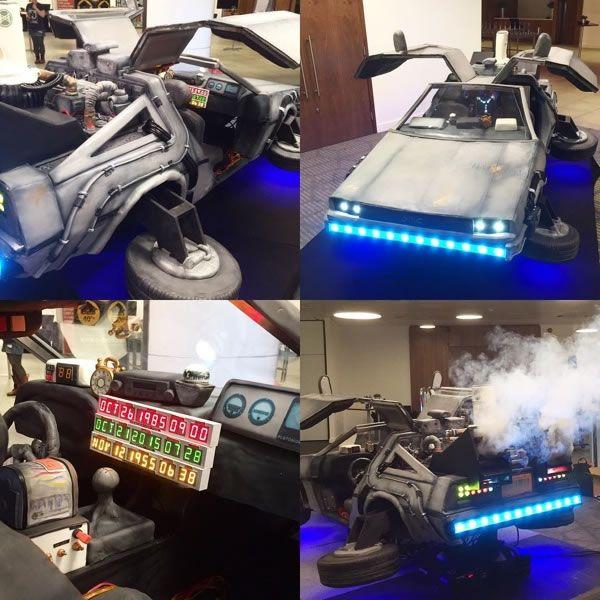 Life-Size BTTF DeLorean Cake Is Delicious Any Time -  #BTTF #cake #cars #delorean