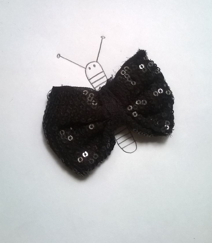 Creative illustrations. The bow butterfly. :)