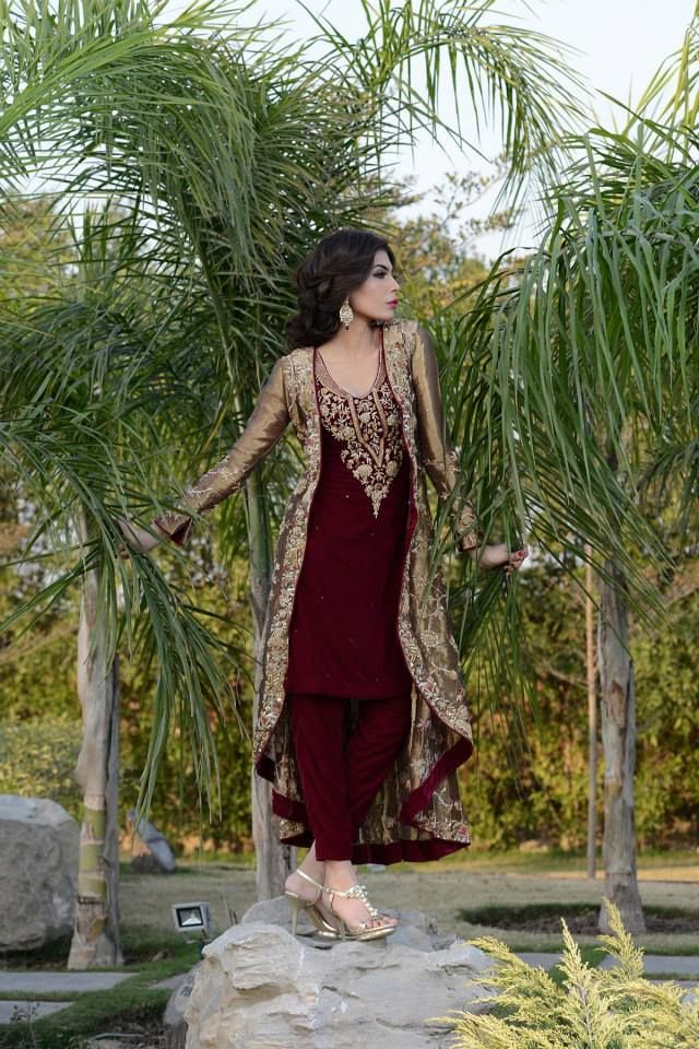 Latest Party Wear Eid Women Dresses 2014 By Mehryn Zafar 3