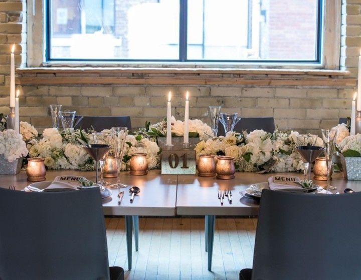 Styled Shoot Chic Industrial Wedding Reception Ideas From Weddingstar
