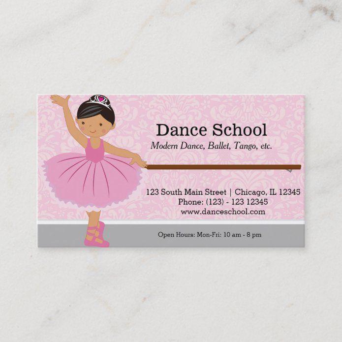 Dance School Business Card Zazzle Com Dance School Dance School