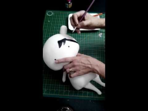 Tilda Toy/Baby: pintura do cabelo - YouTube