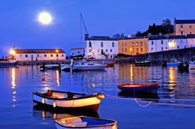 Tenby Harbour by night, Pembrokeshire, Wales