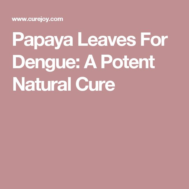 Papaya Leaves For Dengue: A Potent Natural Cure