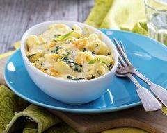 Gratin de pâtes aux blettes et béchamel : http://www.cuisineaz.com/recettes/gratin-de-pates-aux-blettes-et-bechamel-79348.aspx
