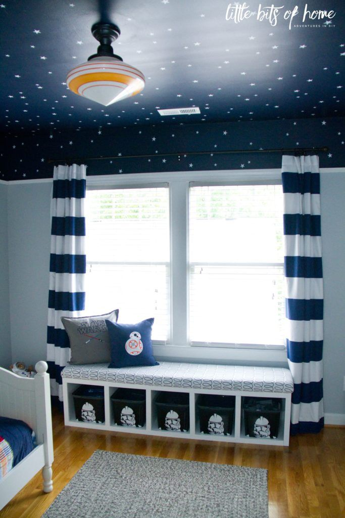 star wars kids bedroom window seat 2