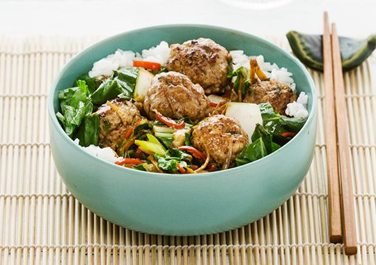 Spicy Pork with Asian Greens
