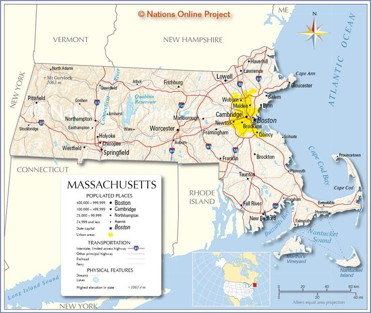 Massachusetts Geographical Map maps Pinterest Massachusetts - new world map online puzzle