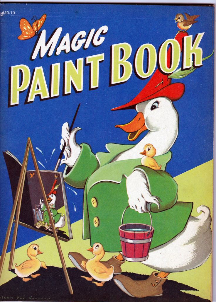Magic Paint Book Whitman Publishing 1949 From The Disneyland Treasures Ebay Store