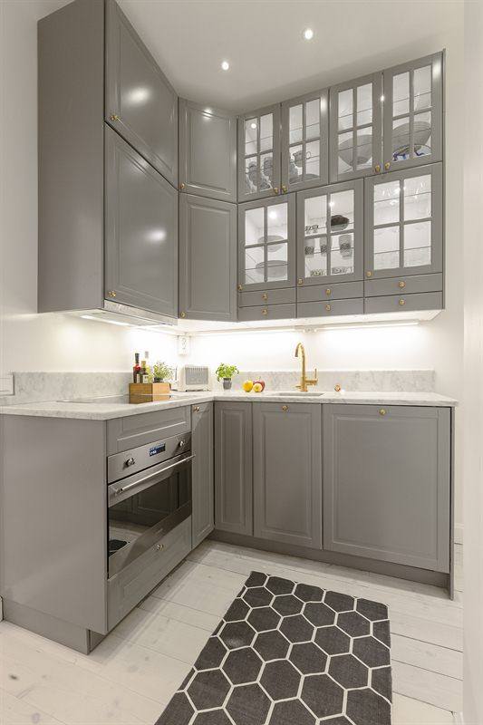 Small grey kitchen