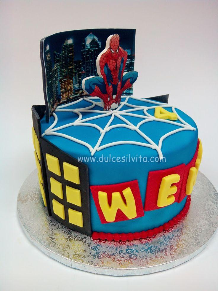 Dulce Silvita: Tarta Spiderman SIN GLUTEN para Wence