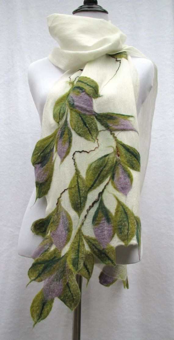 Nuno Felted Scarf in Cashmere Soft Wool and by Twigsimmortalized