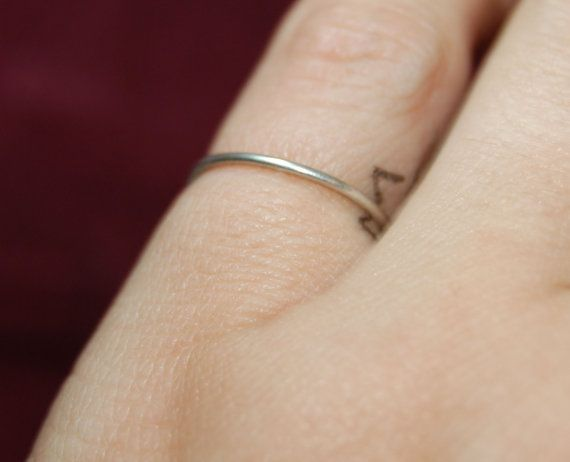 Classic Stacking Super Thin Wire 925 Sterling by BadKittyCrafts