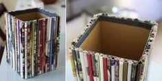 Como reciclar revistas antigas 001