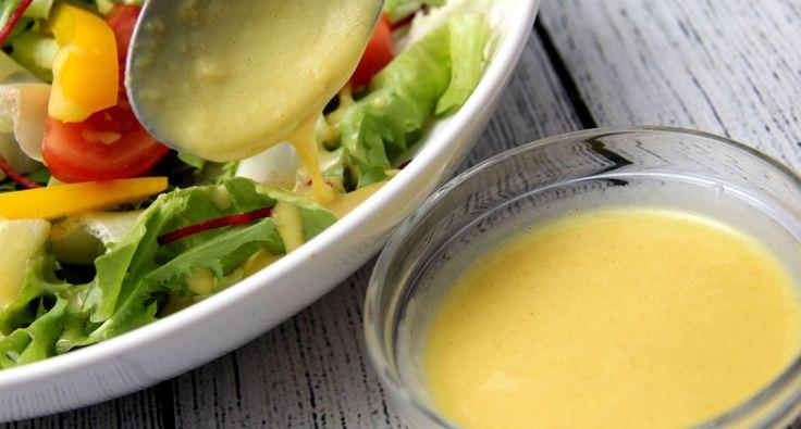 Mézes-mustáros salátaöntet recept: Mézes-mustáros salátaöntet recept, egy kis extra gyömbérrel megbolondítva!