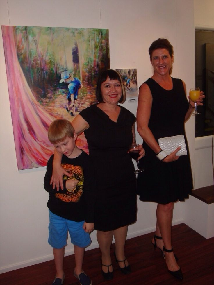 Man and Boy exhibition opening. Anthea Polson Art October 2014