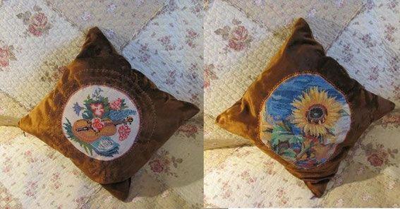 Вышитая подушка вышивка крестиком схемы вышивки подушки ручной работы купить наволочку