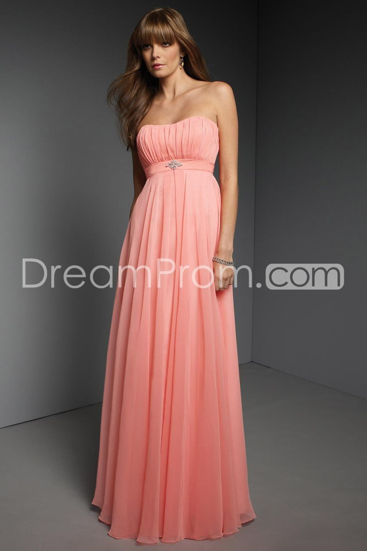 Buy Cheap Cheap Charming A-Line Strapless Sleeveless Floor Length Chiffon Bridesmaid Dresses CH309707 Under 100 Bridesmaid Dresses under $99.99 only in Udressprom.