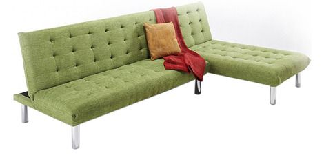 This simply styled sofa cum bed set is sure so enchant the look of your interiors. This sofa set offers a great back support too making it a desirable piece of furniture for any home. Its plush upholstery offers a comfortable seating experience for anyone who sits in it. Check out more wooden furniture online.