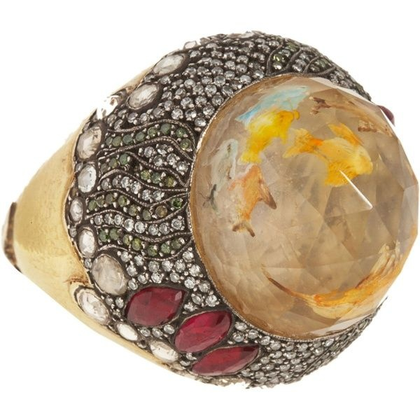 Sevan Biçakçi. Fish carved citrine ring.
