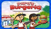 "Papas Burgeria - In this sequel to the award-winning hit game ""Papa's Pizzeria"", you're headed back to the kitchen to run Papa Louie's new burger shop! You'll have to take orders, grill burgers, add toppings, and serve the sandwiches to the waiting customers."