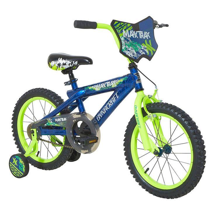 Boys Dynacraft 16-Inch Maxx Trax Training Wheel Bike, Blue