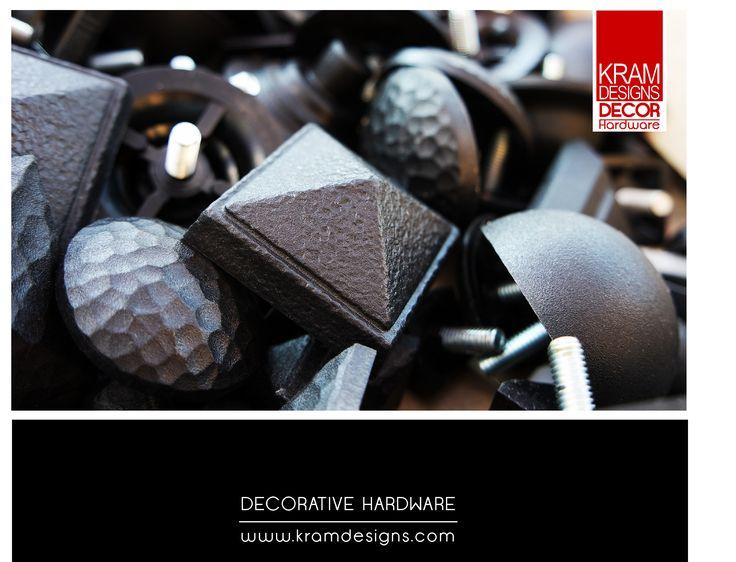 Black Stud Collection from Kram Designs Decor Hardware