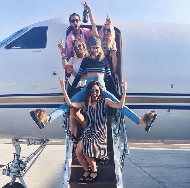 Suicide Squad: Karen Fukuhara, Cara Delevingne, Margot Robbie and Jared Leto at San Diego Comic Con 2016 (SDCC) (photo via Karen's Instagram)