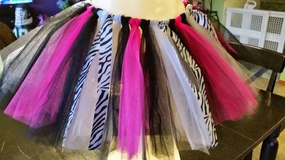 Pink Zebra Tutu Children & Tween Sizes by Tutu2CuteShop on Etsy