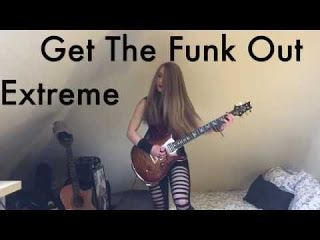 Sophie Burrell: Get The Funk Out - Extreme Guitar Solo   This guitar solo is incredibly fun and entertaining to play so I thought I'd cover it! Instagram :: http://ift.tt/2itv38W... Snapchat :: sophie.burrell Twitter :: https://twitter.com/SophieBurrell Get The Funk Out - Extreme Guitar Solo Sophie Burrell