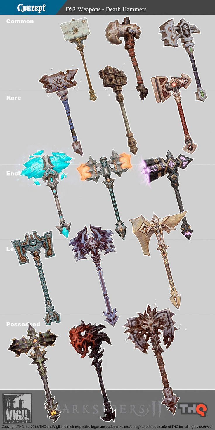 Darksiders 2 Weapons Concept